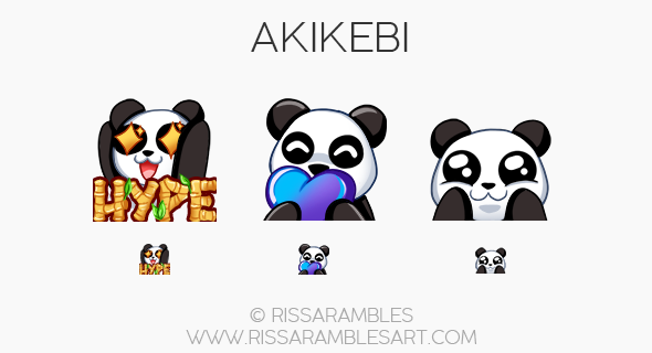 Twitch Emotes for Akikebi | Twitch TV Emotes | New Twitch Emotes