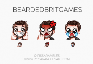 Twitch Emotes for BeardedBritGames | Twitch TV Emotes | New Twitch Emotes