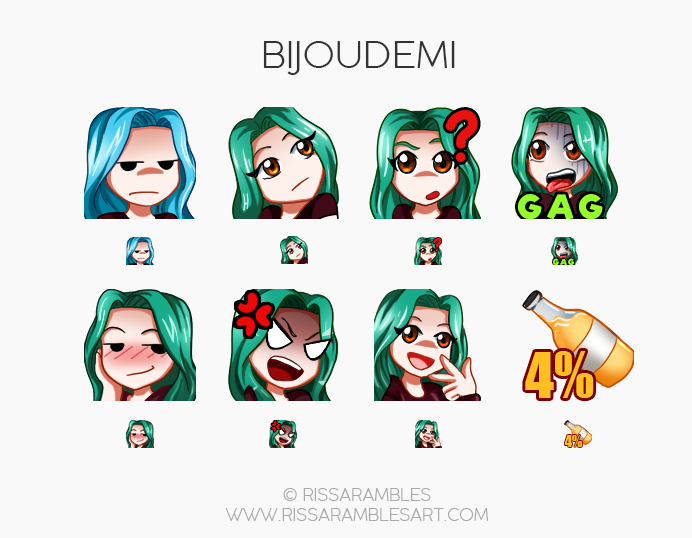 Twitch Emotes for BijouDemi | Twitch TV Emotes | New Twitch Emotes