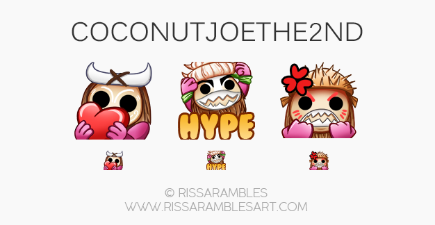 Twitch Emotes for CoconutJoethe2nd | Twitch TV Emotes | New Twitch Emotes