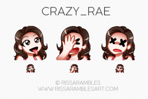 Twitch Emotes for Crazy_Rae   Twitch TV Emotes   New Twitch Emotes
