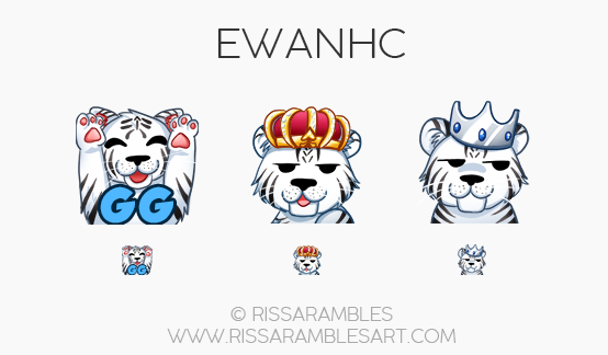 Twitch Emotes for EwanHC | Twitch TV Emotes | New Twitch Emotes
