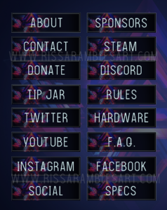 Modern Abstract Twitch Panels