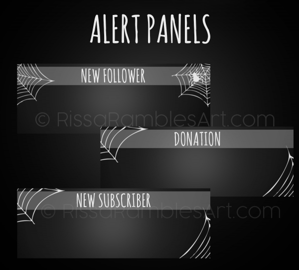 Halloween Twitch Panels | StreamLabs Alerts | Halloween Twitch Graphics