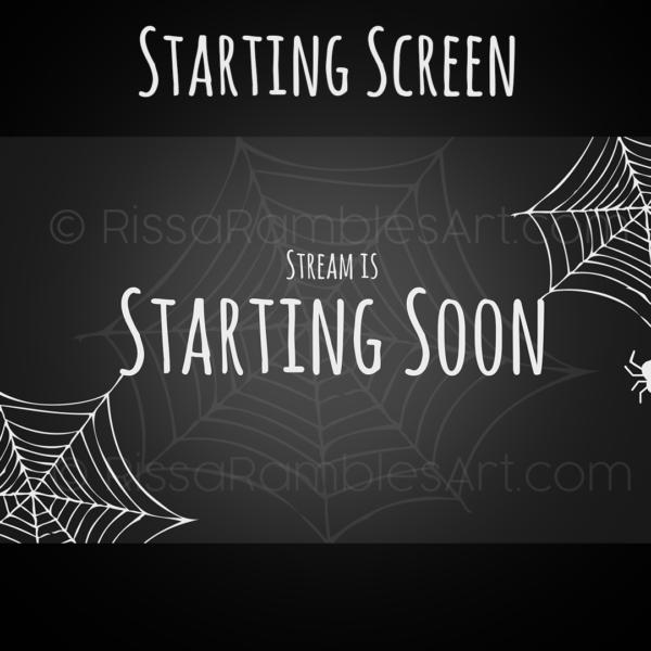 Halloween Stream Starting Soon Screen | Halloween Twitch Graphics | RissaRamblesArt.com