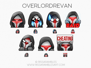 OverlordRevan Emotes | Star Wars Emotes | Custom Twitch Emotes by RissaRambles | Top Twitch Emote Artists | Twitch Emote Portfolio