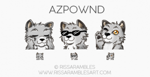 Dog Emotes | Wolf Emotes | Custom Twitch Emotes by RissaRambles | Top Twitch Emote Artists | Twitch Emote Portfolio