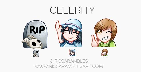 Celerity Emotes | Custom Twitch Emotes | Emote Commissions | Mixer Emotes | YouTube Emojis