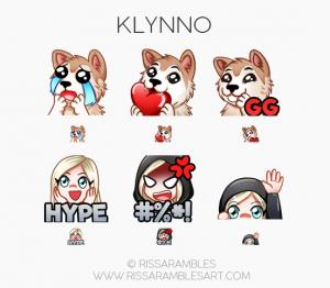 Klynno Twitch Emotes | | Custom Twitch Emotes | Emote Commissions | Mixer Emotes | YouTube Emojis | Puppy Emotes