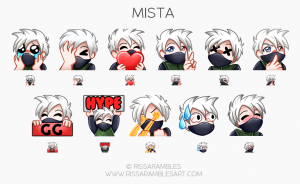 Mista Twitch Emotes | Custom Twitch Emotes by RissaRambles | Top Twitch Emote Artists | Twitch Emote Portfolio