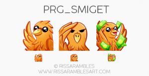 Phoenix Twitch Emotes | Custom Twitch Emotes by RissaRambles | Top Twitch Emote Artists | Twitch Emote Portfolio