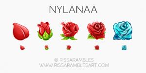 Flower Sub Badges | Rose Twitch Badges | Custom Twitch Emotes by RissaRambles | Top Twitch Emote Artists | Twitch Emote Portfolio
