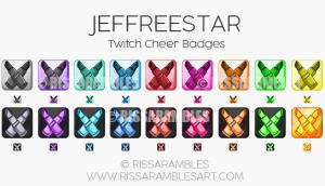Jeffree Star Twitch Cheer Badges | Custom Twitch Emotes by RissaRambles | Top Twitch Emote Artists | Twitch Emote Portfolio