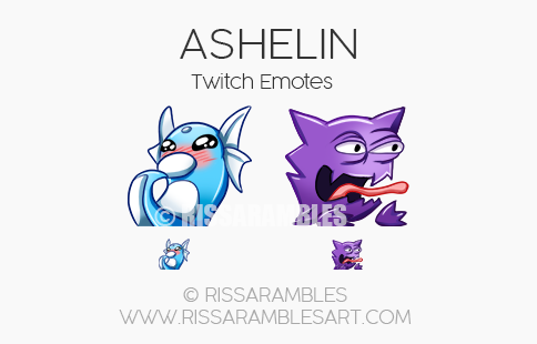 Ashelin Twitch Emotes | Custom Twitch Emotes by RissaRambles Custom Twitch Emotes by RissaRambles | Top Twitch Emote Artists | Twitch Emote Portfolio