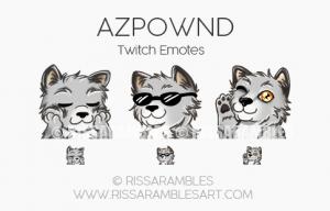 Azpwnd Twitch Emotes | Custom Twitch Emotes by RissaRambles Custom Twitch Emotes by RissaRambles | Top Twitch Emote Artists | Twitch Emote Portfolio