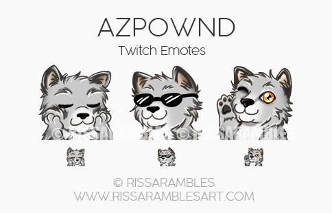 Azpwnd Twitch Emotes | Custom Twitch Emotes by RissaRambles