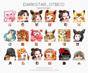 Darkstar_OTBCO Twitch Emotes | Custom Twitch Emotes by RissaRambles