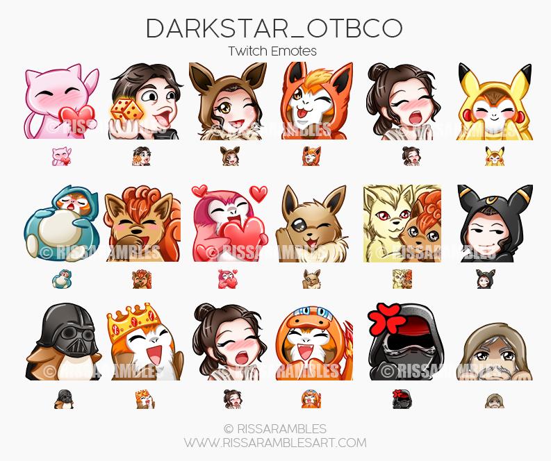 Darkstar_OTBCO Twitch Emotes | Custom Twitch Emotes by RissaRambles