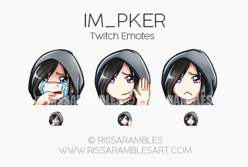 IM_PKER Twitch Emotes | Custom Twitch Emotes by RissaRambles