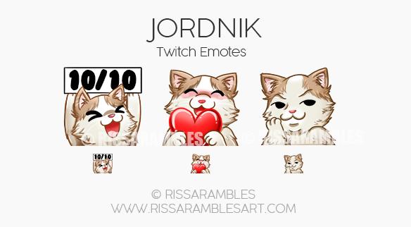 JORDNIK Twitch Emotes | Custom Twitch Emotes by RissaRambles