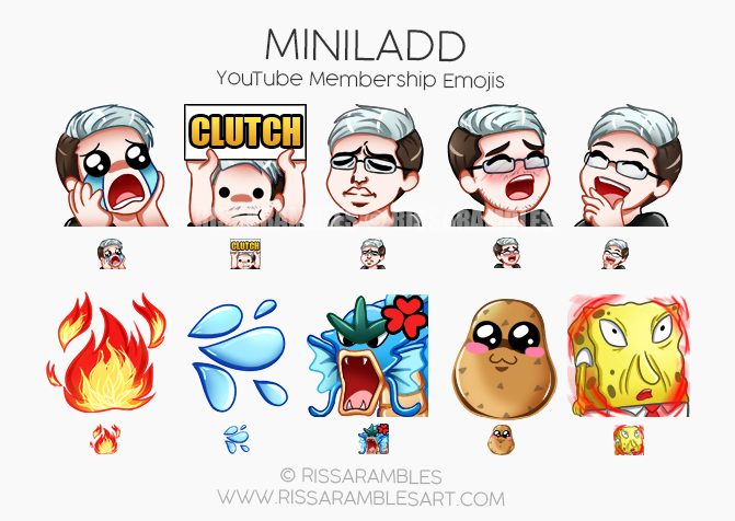 MiniLadd YouTube Emojis | Custom YouTube Emojis by RissaRambles | Custom Twitch Emotes | Emote Commissions | Mixer Emotes | YouTube Emojis