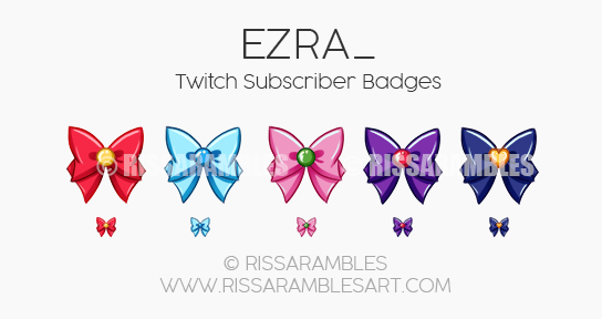 Sailor Moon Sub Badges | Custom Twitch Sub Badges | Custom Twitch Emotes by RissaRambles | Top Twitch Emote Artists | Twitch Emote Portfolio