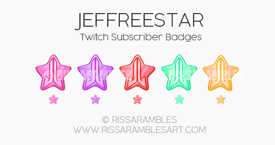Jeffree Star Twitch Sub Badges | Sub Loyalty Badges | Twitch Subscriber Badges | Jeffree Star Shane Dawson Conspiracy Palette