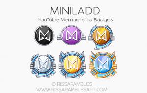 Miniladd YouTube Membership Badges | YouTube Badges | Custom Youtube Emojis | Custom Twitch Emotes by RissaRambles | Top Twitch Emote Artists | Twitch Emote Portfolio