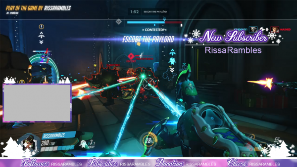 Girly-Purple-Christmas-Stream-Overlays