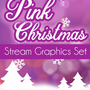 Pink Christmas Twitch Overlay