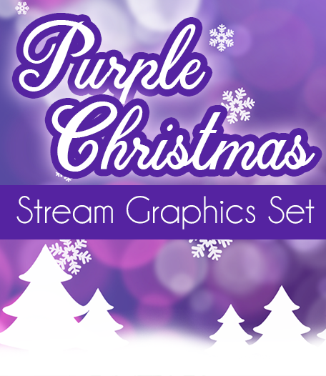 Purple Christmas Stream Overlay Set