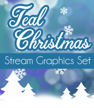 Teal - Blue Christmas Twitch Overlay Set
