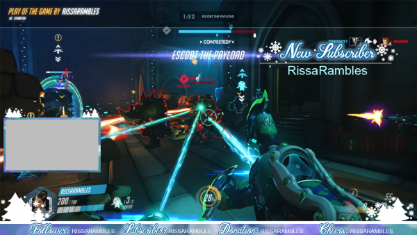 Teal-Girly-Christmas-Twitch-Overlay-Set