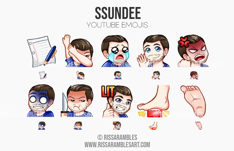 Ssundee | Custom Twitch Emotes | Emote Commissions | Mixer Emotes | YouTube Emojis | Fortnite Emotes | Minecraft Emotes