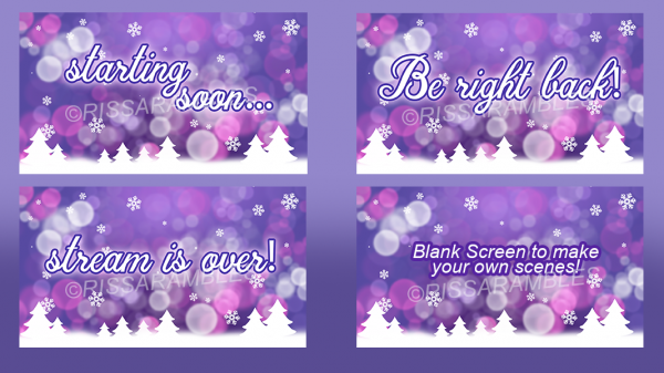 Christmas Overlay Screens | Custom Stream Overlays | Girly Stream Overlays