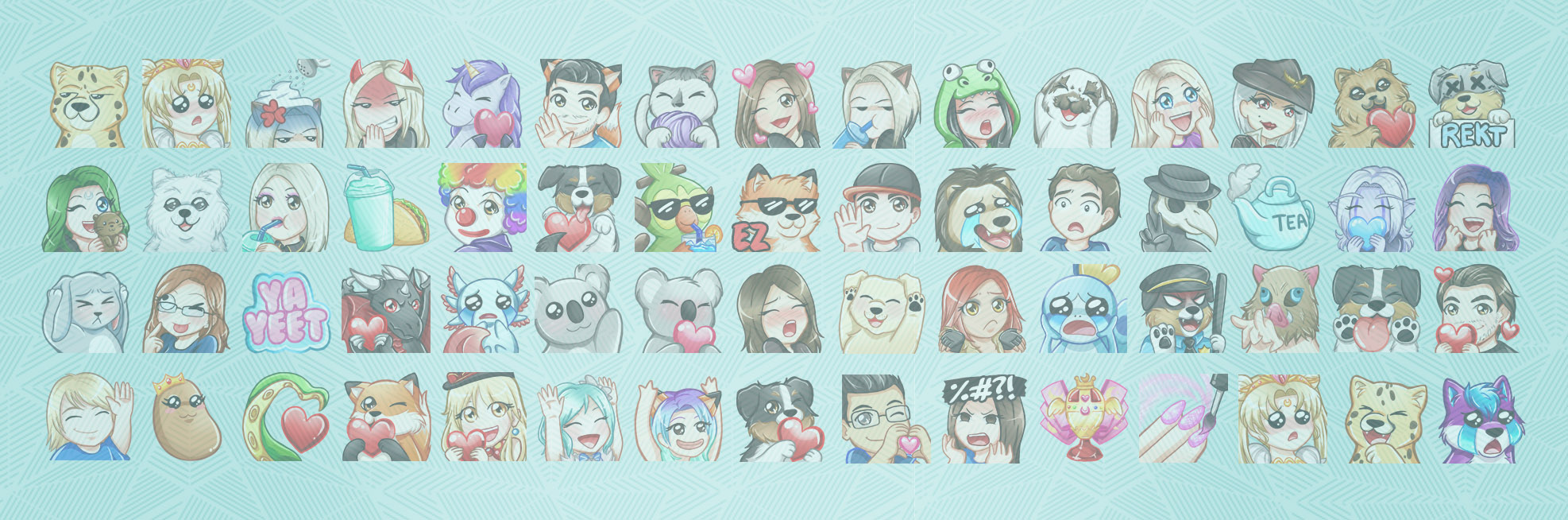 Custom Twitch Emotes | Best Twitch Emote Artists | RissaRamblesArt.com