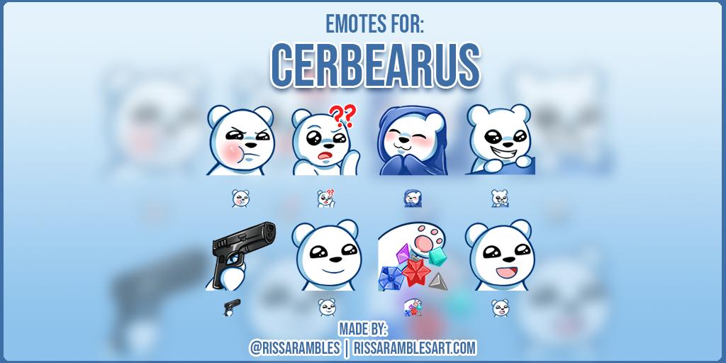 Twitch Emotes | Cerbearus | Polar Bear Emotes | Custom Twitch Emotes