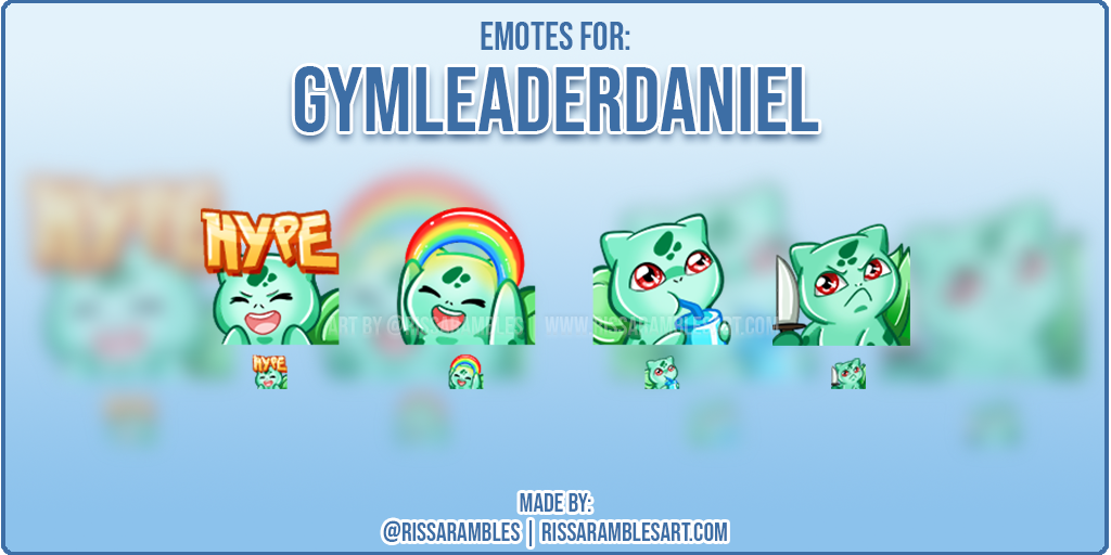 Custom Twitch Emotes | Pokemon Emotes | Gymleaderdaniel