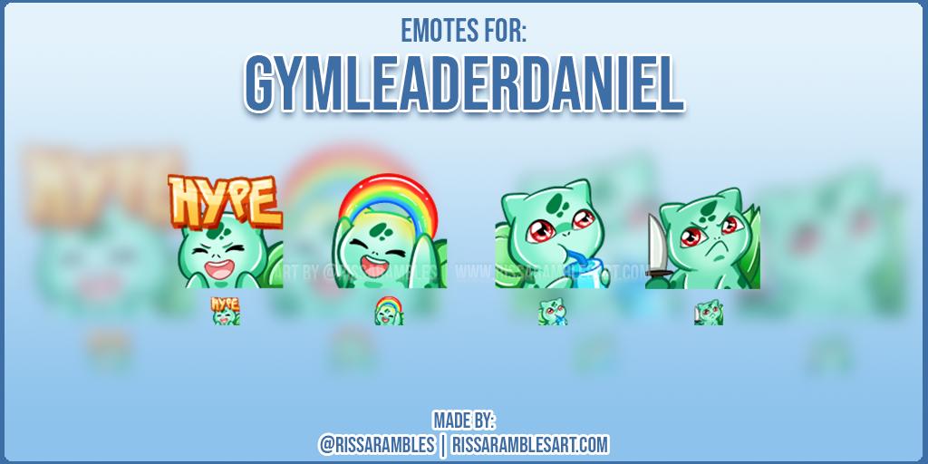 Custom Twitch Emotes | Pokemon Emotes | Gymleaderdaniel