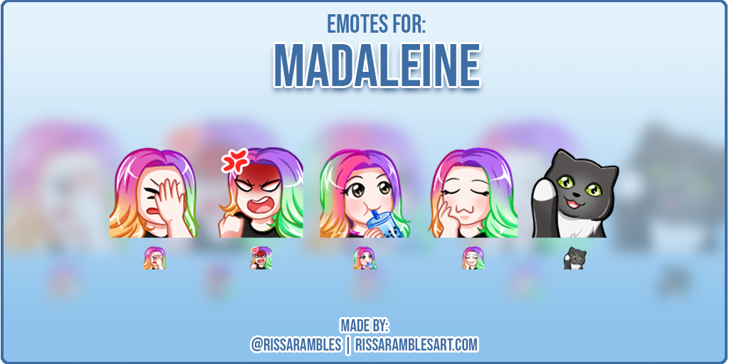 Custom Twitch Emotes | Kawaii Girl Emotes