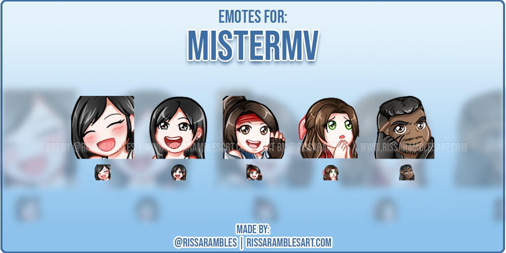 Final Fantasy Twitch Emotes | Custom Twitch Emotes