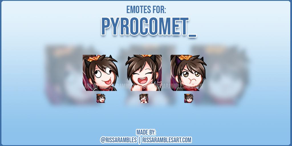 Pyrocomet_ Twitch Emotes | Anime Girl Emotes