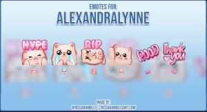 Custom Cat Emotes | Twitch Emotes | Pusheen | Alexandralynne | RissaRambles