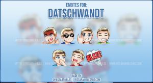 Custom Twitch Emotes for DatSchwandt | Jeffree Star | Top Twitch Emote Artist RissaRambles
