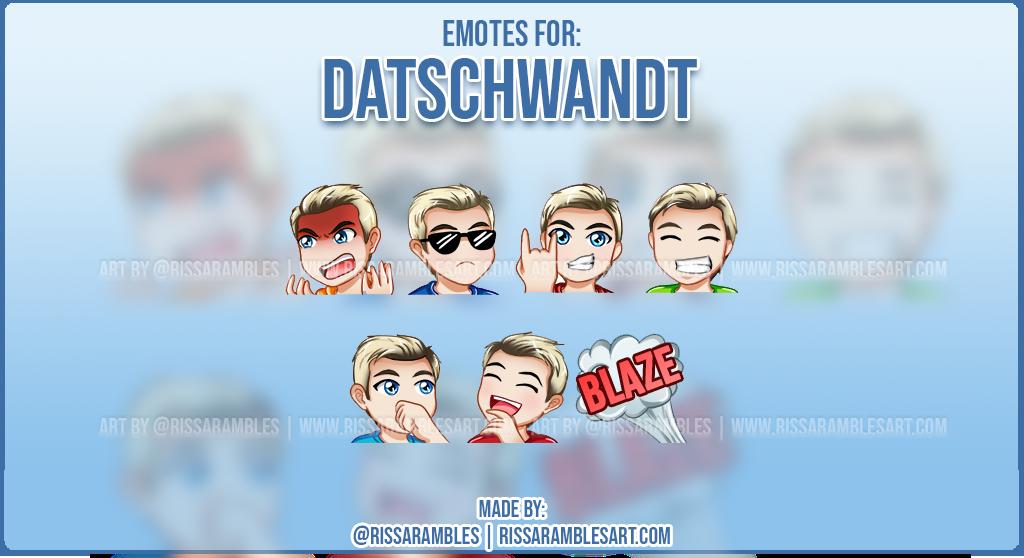 Custom Twitch Emotes for DatSchwandt   Jeffree Star   Top Twitch Emote Artist RissaRambles