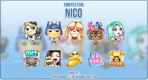 Custom Animal Crossing Twitch Emotes | Emotes and Badges for Twitch | RissaRambles