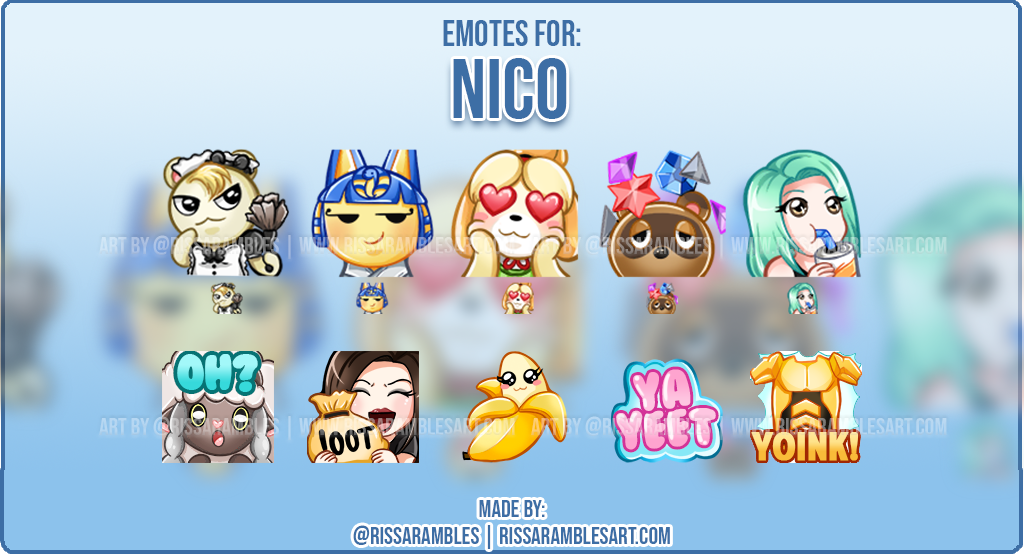 Custom Animal Crossing Twitch Emotes   Emotes and Badges for Twitch   RissaRambles