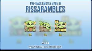 Custom Twitch Emotes | Star Wars | Baby Yoda Emotes | RissaRambles