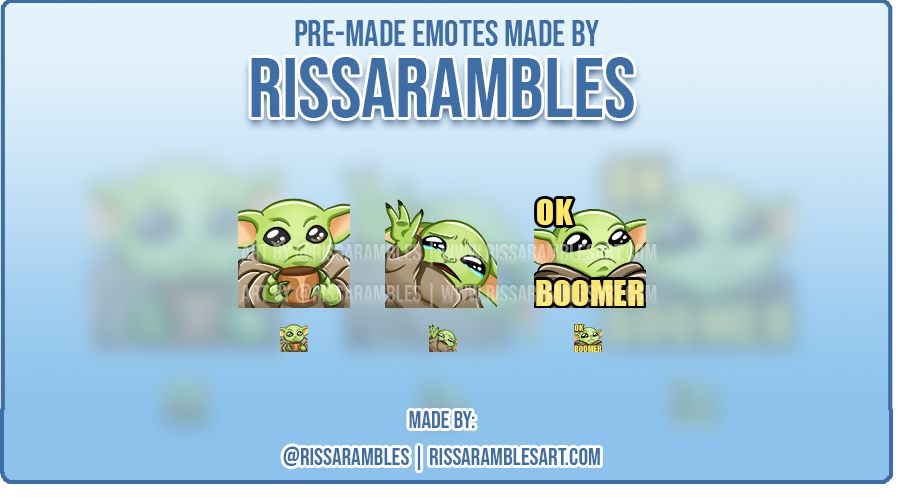 Custom Twitch Emotes | Star Wars | Baby Yoda Emotes | RissaRambles