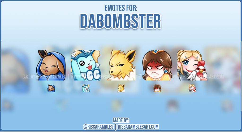 Pokemon Emotes | Twitch Emotes | Twitch Emote Artist - RissaRambles